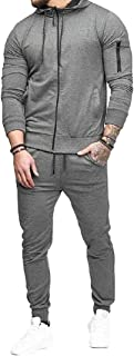 Mens Tracksuit Athletic Sports Running Long Sleeve Two Piece Casual Full Zip Sweatsuit