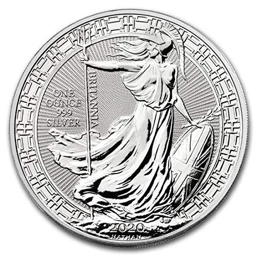 1 Unze oz Silber Münze Britannia 2020 Silbermünze