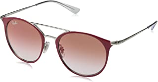 RJ9545S Round Kids Sunglasses, Silver On Top Red/Red...
