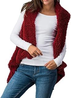 Kulywon faux fur coat Women Winter Lady Faux Fur Solid Outwear Sleeveless Warm Vest Waistcoat