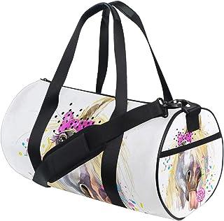 Ahomy Wasserfarben-Reisetasche/Schultertasche, leicht, Segeltuch, Weiß
