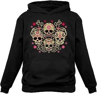 Rose Eye Sugar Skulls - Day of The Dead Gothic Women's Hoodie