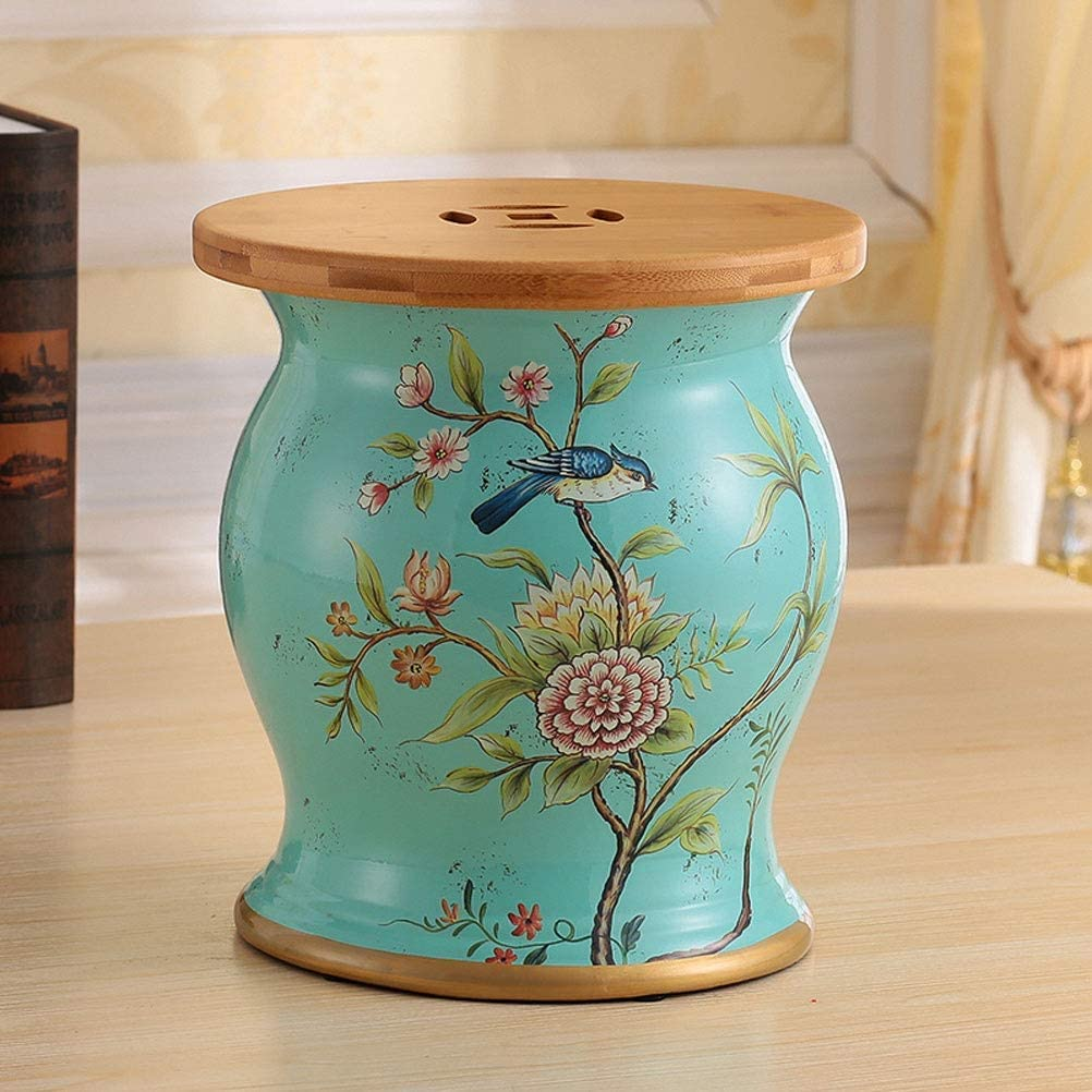 Jingdezhen Ceramic Table Stool service Glaze Daily bargain sale Color Gre Set