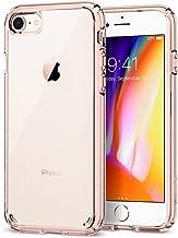 spigen Funda iPhone 7/8 [Ultra Hybrid 2] Tecnología de amortiguación de Aire y protección híbrida contra caídas para iPhone 7 (2016) / iPhone 8 (2017) -Rose Crystal