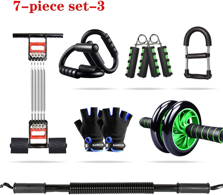 Muzi-Fitness Fitnessgerte-Set, Fitnessgerte-Home-Multifunktions-Trainingsset, Sportartikel-Training, Brustmuskel-Kraft-Arm-Training,3,50KG