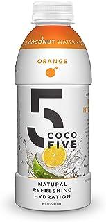 COCO5 Clean Sports Hydration Orange Flavor | 100% Natural | 50% Less Sugar | Nothing Artificial | Non-GMO | Gluten Free | ...