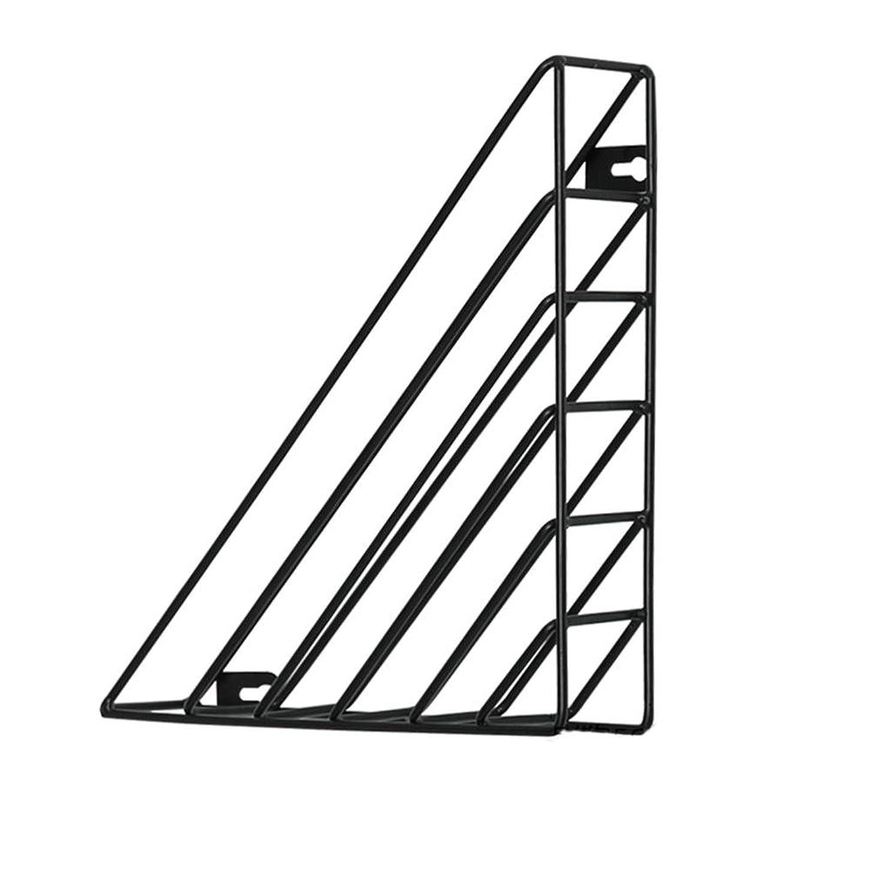 能力部読書をする本棚 シンプルなアイアン壁掛け ストレージラック マガジンラック フオフィスの壁棚 北欧スタイル 鉄構造 3色可選