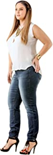 Standards & Practices Curvy Women's Plus Size Denim Knit Blue Medium Wash Skinny Jeans
