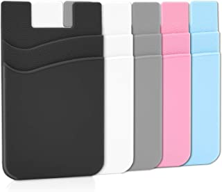 Phone Wallet, Senose Card Holder for Back of Phone Stick on Phone Cases Great Storage Compatible with iPhone/Android/Samsu...