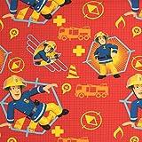 Stoffe Werning Baumwollstoff Lizenzstoff Feuerwehrmann Sam