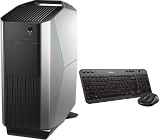Dell Alienware Aurora R8 Gaming Desktop with /Wireless Combo Keyboard and Mouse | Intel Quad Core i7-8700 | 16GB Memory | 1T HDD | NVIDIA GeForce GTX 1080 8GB GDDR5 | Win 10