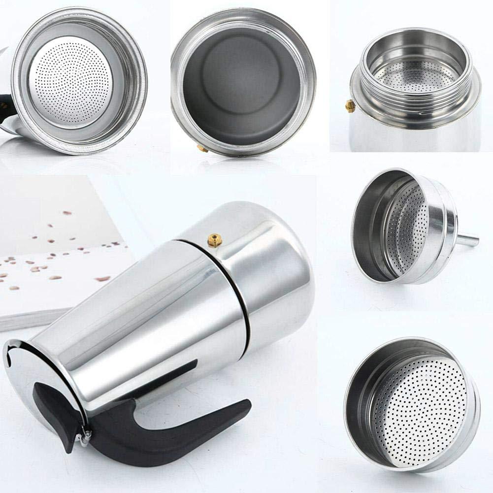 Ahomi - Cafetera de acero inoxidable con filtro superior de moca ...