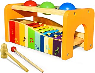 ATOPDREAM TOPTOY Wooden Musical Pounding Toy - Gifts to Kids