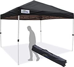 Goutime Pop-up Instant Shelter Canopy, Outdoor Party Tent,10x10 feet with Wheeled Carry Bag (Black)