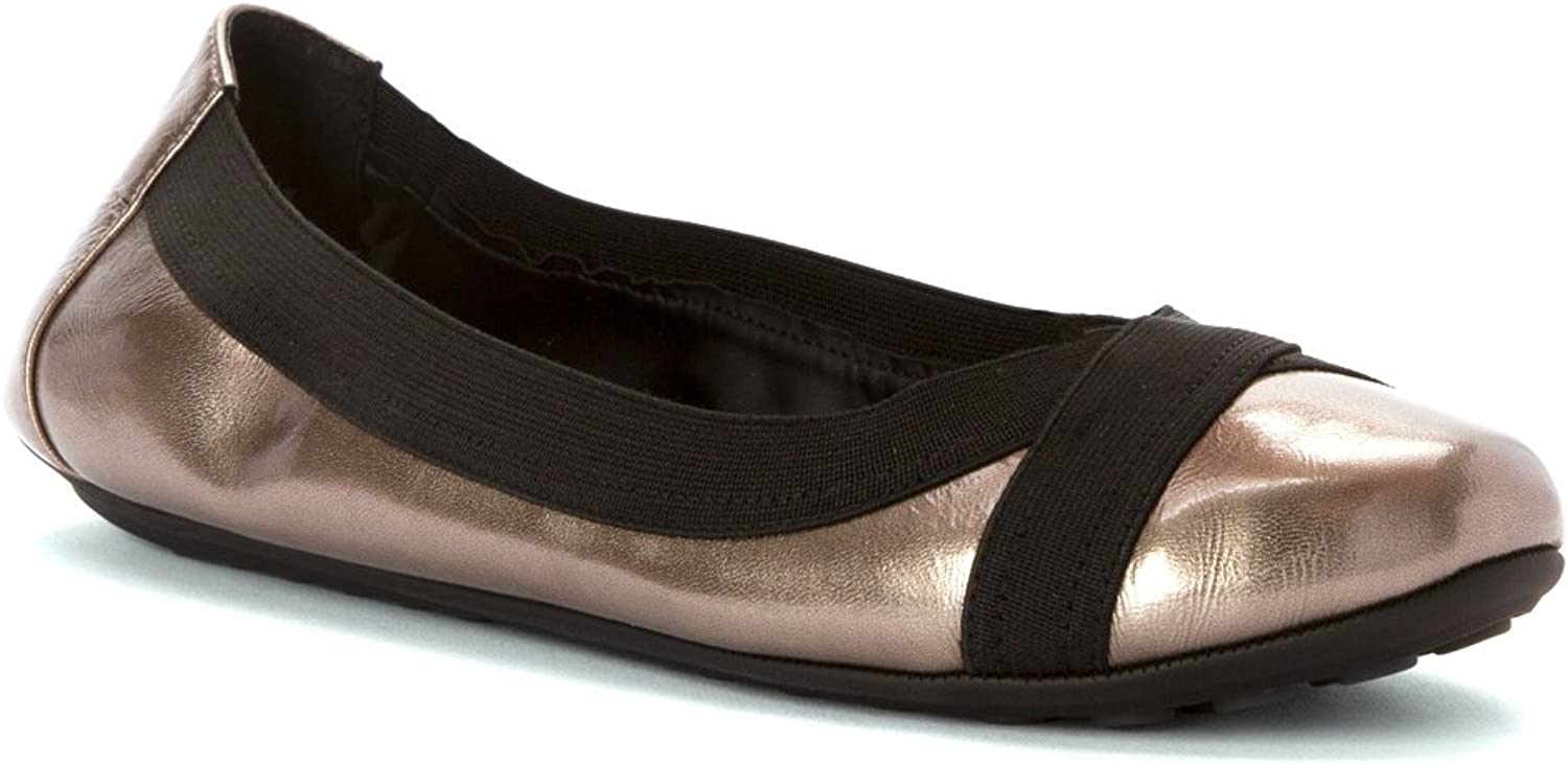 Adam Tucker by Me Too Womens Nixie Ballet Flat shoes, Pewter Patent, US 8.5