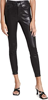 Good American Women's Good Legs Leather Like Coated Jeans
