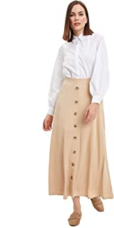 DeFacto Donna Maxi Gonna Beige