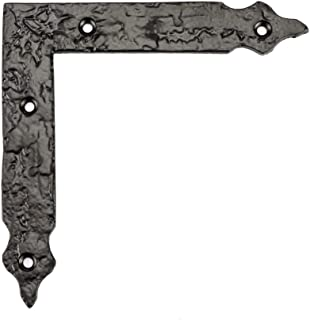 Richelieu Hardware - BP9544125900 - Traditional - Decorative Corner Bracket for Barn Door - 9544 - Forged Iron Matte Black Finish