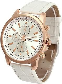 Watches,2020 New Waterproof Unisex Casual Geneva Faux Leather Quartz Analog Wrist Watch Fashion