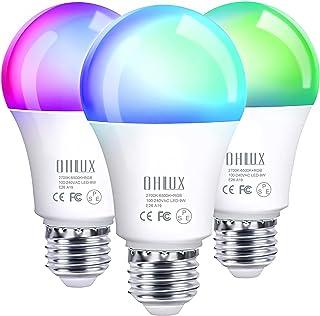 【Amazon Alexa認定 LED電球】OHLUX Wi-Fi スマートLED電球、Alexa Echo Google Home 対応、ブリッジ不要、1600万色 RGBCWの色が変わる、調光調色、2700Kウォームホワイトから6500Kク...
