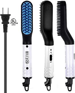 Beard Straightener for Men, Ejoy Electric Beard Straightening Brush Hot Beard Comb with 2 Temp Modes 360 Degree Rotating Cord Fast Heat up Beard Straightener Comb for Mens Short and Long Beard/Hair