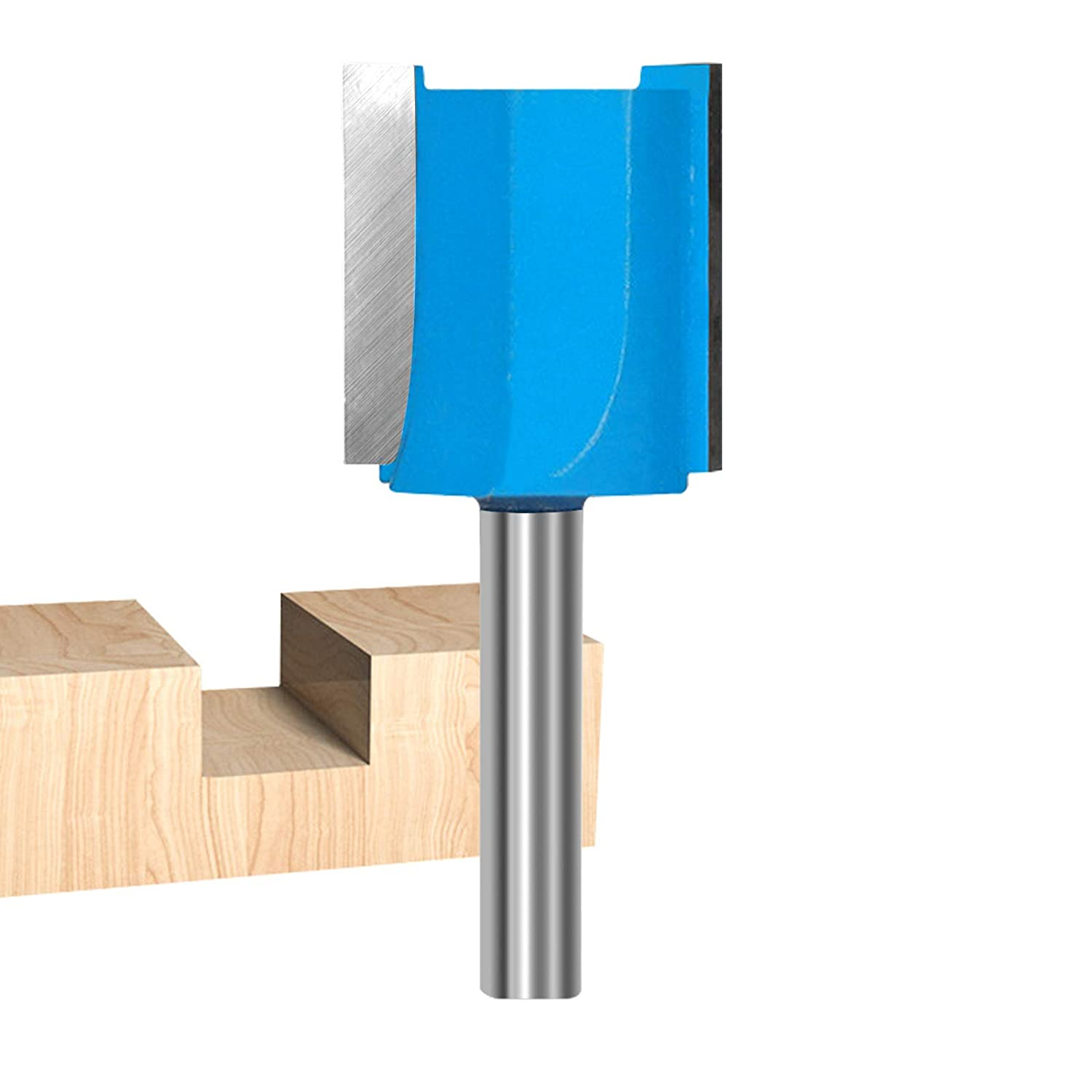 ROOCBIT Straight Cut Router Bits 5 ☆ very popular Free shipping anywhere in the nation 1 Str Double Shank 4-Inch Flute