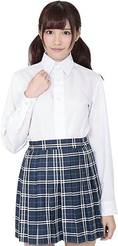 A&Tcollection Japanese High School Girl Uniform Kawai Serious Long-Sleeved Shirt Weiß