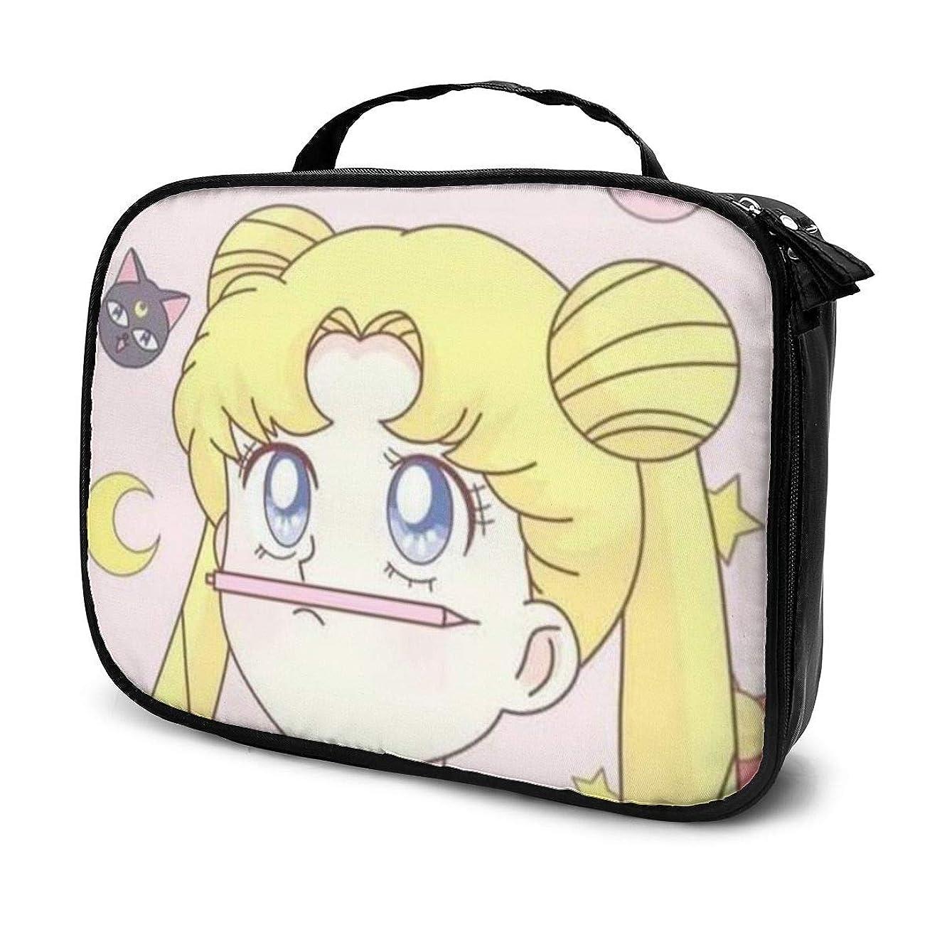 安定ファンシー小さいDaituかわいいセーラームーン 化粧品袋の女性旅行バッグ収納大容量防水アクセサリー旅行