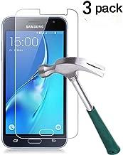 TANTEK YYY33 Bubble-Free, HD-Clear, Anti-Scratch, Anti-Glare, Anti-Fingerprint Premium Tempered Glass Screen Protector for Samsung Galaxy J3 (2016) - 3 Piece