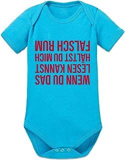 Shirtcity Wenn du das lesen Kannst hältst du Mich falsch Rum Baby Strampler by