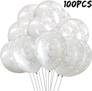 100PCS Christmas Snowflake Latex Balloons - Winter Wonderland/Xmas/Holiday Birthday Wedding Baby Shower Party Decorations Supplies Favors Sliver Snowflakes Decor