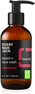 Every Man Jack Beard + Face Wash, Cedarwood, 6.7-ounce