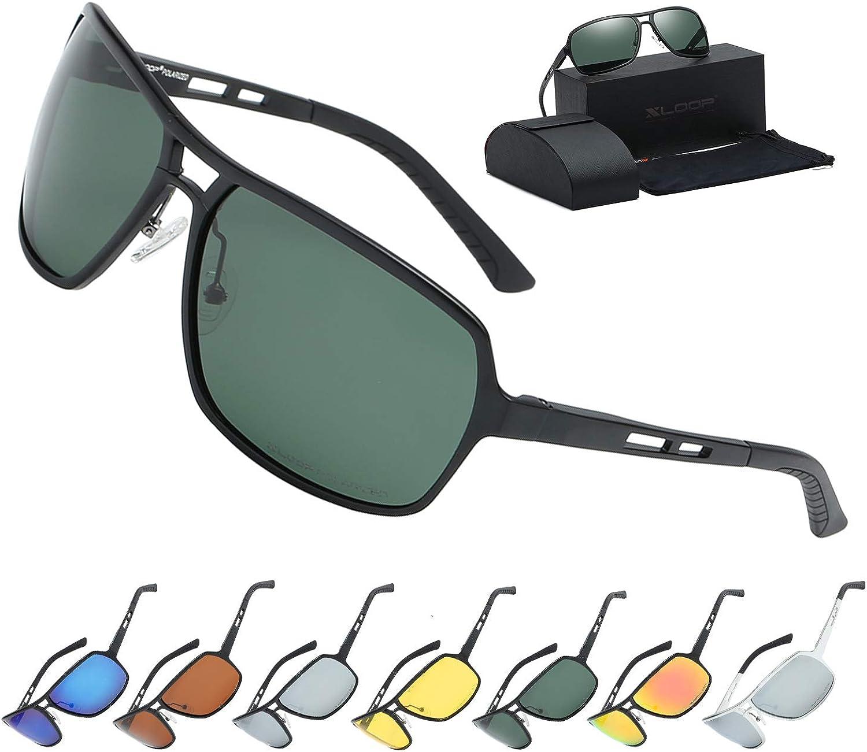 Xloop Polarized Aircraft Aluminum Aviator Fashion Driving Sunglasses For Women Men