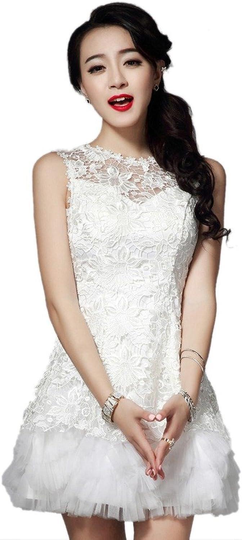 Dearta Women's ALine Jewel Sleeveless Mini Short Bridesmaid Dresses