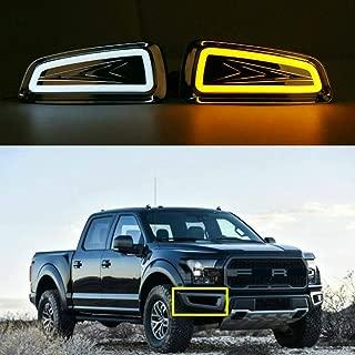 For Ford F150 Raptor SVT 2009-2015 Daytime Running Lights Fog Lamp LED DRL with Turn Signal (US Shipment)