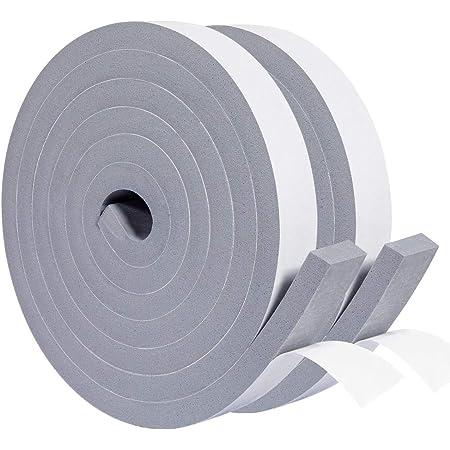 YoTacheエッジクッションテープ 隙間テープ すきま塞ぎ 断熱 防音 防風 防塵 防水 防虫 絶縁 緩衝材 衝突防止 冷暖房効率アップ 副20mm×厚10mm グレー