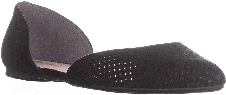 Bar III Womens Luna Fabric Pointed Toe Casual Slide Sandals, Black, Size 9.5