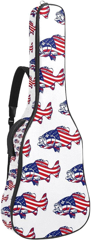 Acoustic Guitar Special sale item 2021 spring and summer new Bag American Flag St Shoulder Adjustable Fishing