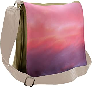 Ambesonne Coral Messenger Bag, Vanilla Sky, Unisex Cross-body