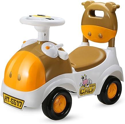 活石 宝宝儿童扭扭车 婴儿溜溜车可坐骑学步车滑行滑行车1-2岁 (橙色)