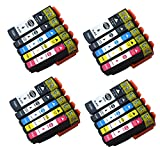 Ouguan Compatibile Epson 33 XL Cartucce d'inchiostro Compatibile con Epson Expression Premium XP-530 XP-540 XP-630 XP-635 XP-640 XP-645 XP-830 XP-900 (4 Nero,4 Nero Foto,4 Ciano,4 Magenta,4 Giallo)