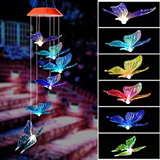Wind Chime,wind chimes outdoor,gifts for mom, Butterfly wind chime,solar wind chimes,mom gifts,birthday gifts for mom,grandma gifts,gardening gift,plastic hangers,outdoor decor, solar mobiles outdoor