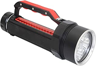 XYIDAI Searchlight, Emergency Light Professional Diving Hand Lamp, Diving Glare Flashlight LED Searchlight Outdoor Handhel...