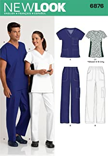 New Look Sewing Pattern 6876 Miss/Men Scrubs, Size A (All Sizes)