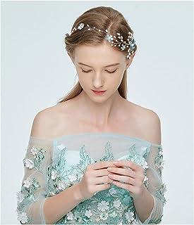 Fascia per capelli da sposa semplice elegante accessori da sposa in lega intrecciata a mano fiori diadema nuziale oro