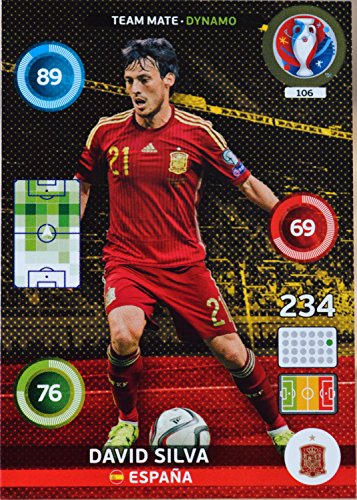 carte PANINI EURO 2016 #106 David Silva