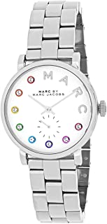 Marc By Marc Jacobs Women's White Dial Stainless Still Band Watch - Mbm3423, Analog Display, Quartz Movement