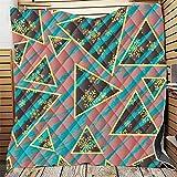Fansu Tagesdecke Bettüberwurf Steppdecke Mikrofaser Doppelbett Einselbetten Tagesdecken Gesteppt Bettwäsche Sofaüberwurf Wohndecke Stepp Gesteppter Quilt (Schneeflocke,130x150cm)