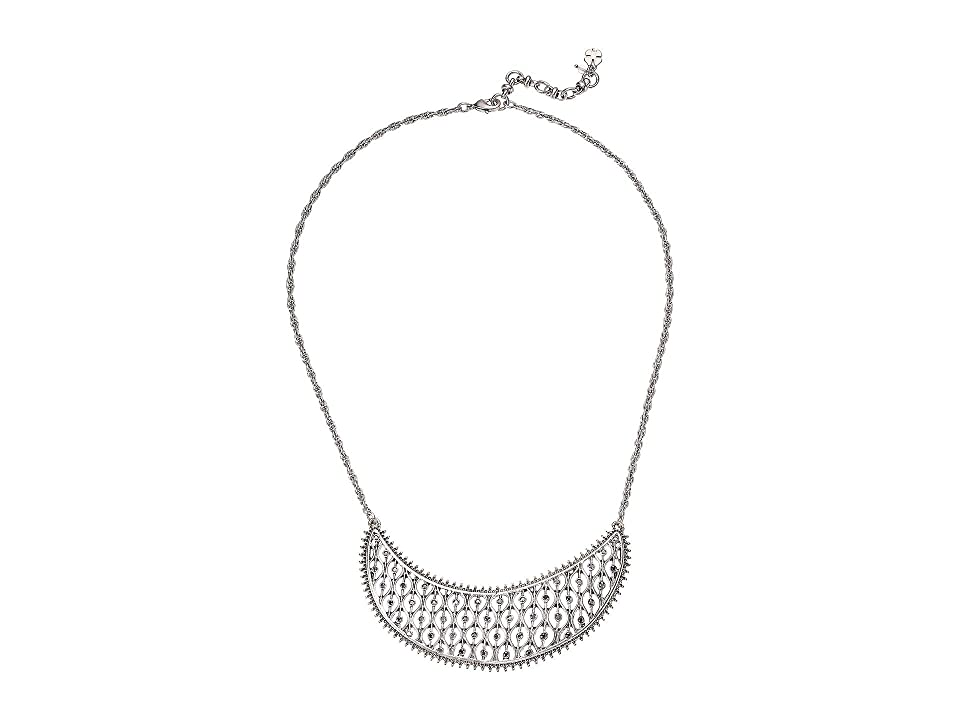 Lucky Brand Pave Collar Necklace (Silver) Necklace