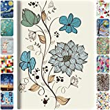 DuraSafe Cases For iPad Mini 1st Gen / Mini 2nd Gen / Mini 3rd Gen - 7.9 Flip Cover with Auto Sleep/Wake Function, Slim Profile & Adjustable Viewing Angle Stand - Watercolor Flowers
